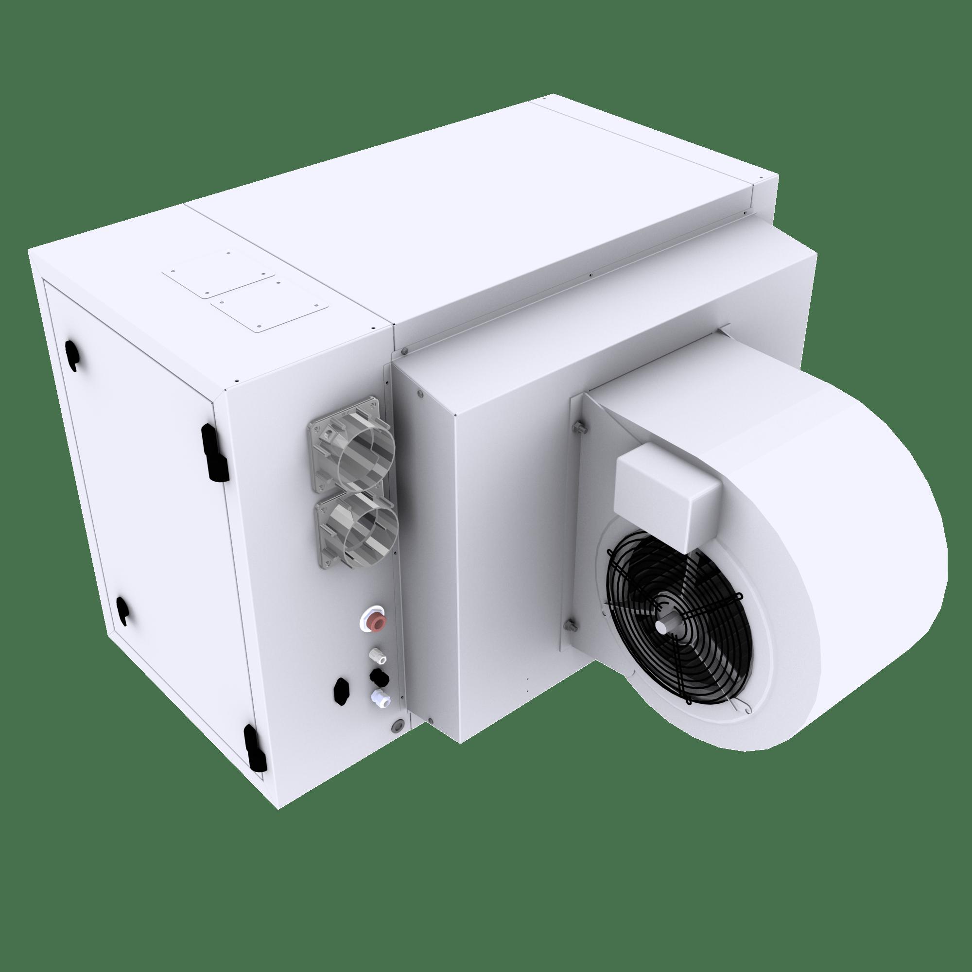 Ohřívač vzduchu s radiálním ventilátorem