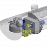 Infrazářič Inframax Space - řez