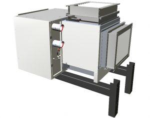 Plynový ohřívač vzduchu s radiálním ventilátorem