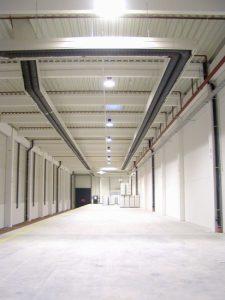 Nízkoteplotní infrazářič EUCERK - v hale