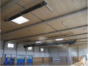 Sportovní hala a tělocvična - vytápění tmavý zářič EURAD - náhled