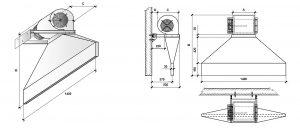 Vratová clona BARERA - tlaková - rozměry