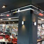 Designový světlý infrazářič Inframax RIALTO - zahrádka restaurace
