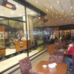 Designový světlý infrazářič Inframax RIALTO - restaurace