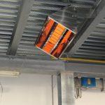 Infrazářič Inframax Neon Eco - v hale