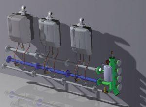 Aquakond AKY - kondenzační plynový kotel - kaskáda
