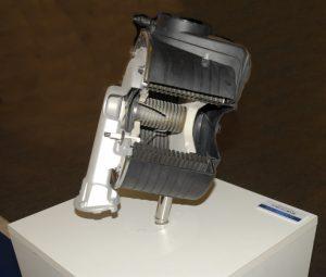 Aquakond AKY - kondenzační plynový kotel - řez