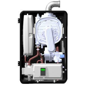 Aquakond AKY - kondenzační plynový kotel - čelní řez