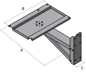 Otočná podpěra pod plynové ohřívače vzduchu a kalorifery