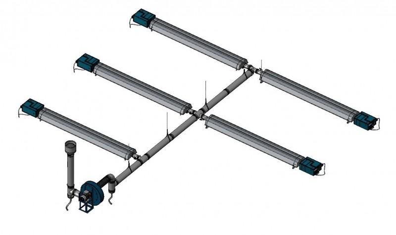 Složené zářiče - Infrazářič Inframax MULTIEURAD