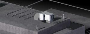 Plynový ohřívač vzduchu AERMAX pro venkovní instalaci - střecha