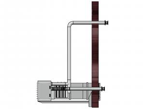 Modelová instalace - odtah spalin u plynového ohřívače vzduchu se směšovací komorou