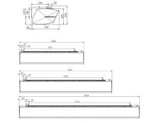 Dveřní clona Barera door rozměry
