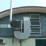 Adiabatické chlazení Eucold - instalace na stěně