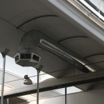 Adiabatické chlazení Eucold - distribuce vzduchu vzduchotechnické potrubí