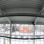 Reference vytápění haly - nízkoteplotní zářič Eucerk (panorama)