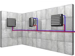 Kalorifer - teplovodní ohřívač vzduchu Aermax AX